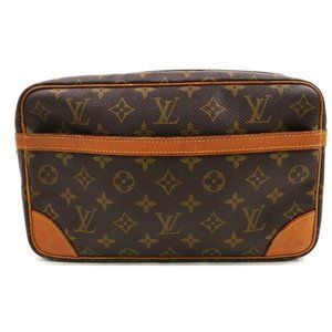 Auth Louis Vuitton Compiegne 28 Clutch #3483L83